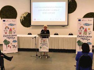 "Konferencija projekta ""Zaslužujemo najbolje"" Osijek - govor"